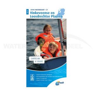 ANWB waterkaart 21 Vinkeveen & Loosdrechtse plassen Editie 2019