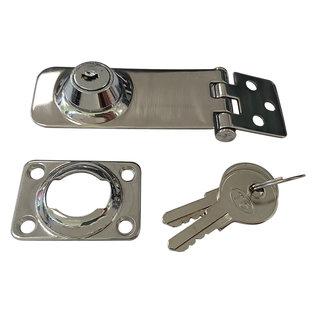 RVS overvalscharnier met sleutel