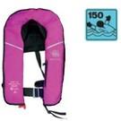 Opblaasbaar roze reddingsvest 150N