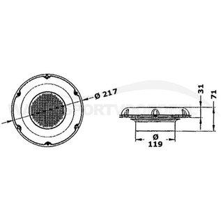 osculati Solar Ventilator RVS
