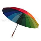 Regenboogparaplu 130 cm - 16 banen