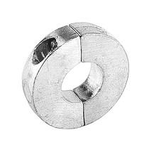 Schroefas anode aluminium vlak 20mm