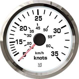 Uflex ultra white snelheidsmeter 65kts