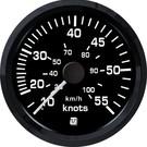 Uflex ultra black snelheidsmeter 55kts
