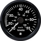 Uflex ultra black snelheidsmeter 65kts