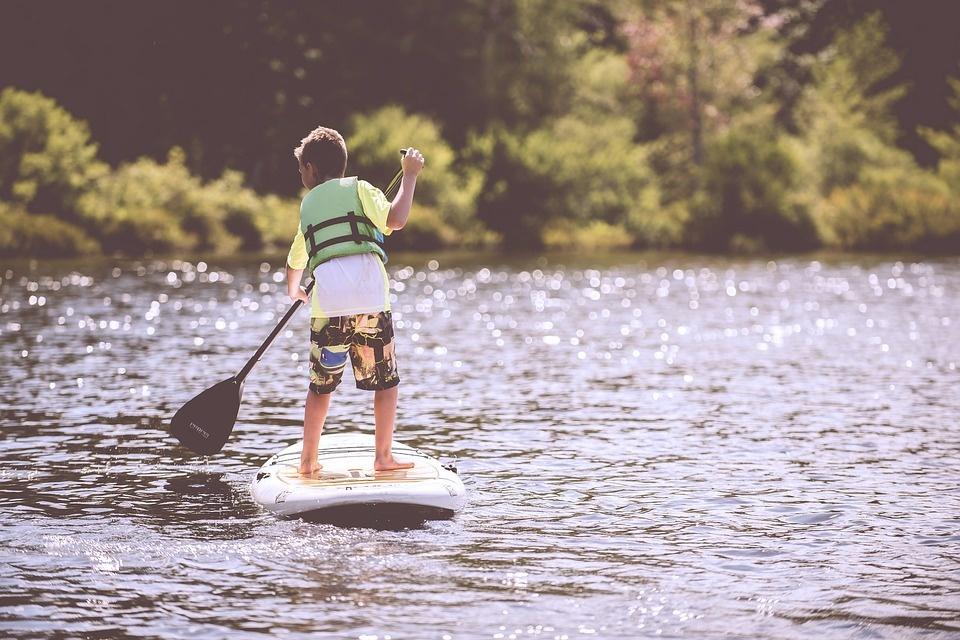Met kinderen op de boot