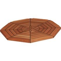 Teak tafelblad achthoekig