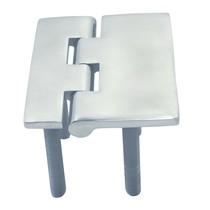 Scharnier met schroefdraad - gegoten / RVS A4-AISI316