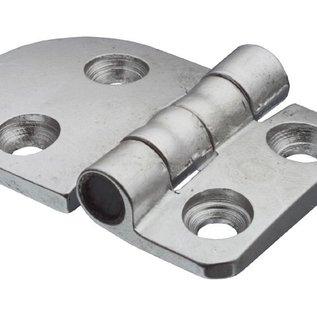 Scharnier / Geanodiseerd aluminium - 58x40mm