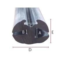Peesrubber 4,5/7,5mm - Zwart