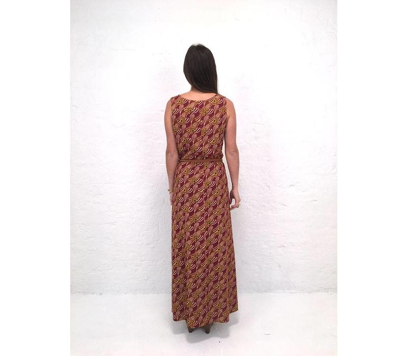 JABA Naomi Maxi Dress in Vintage Wave Rust