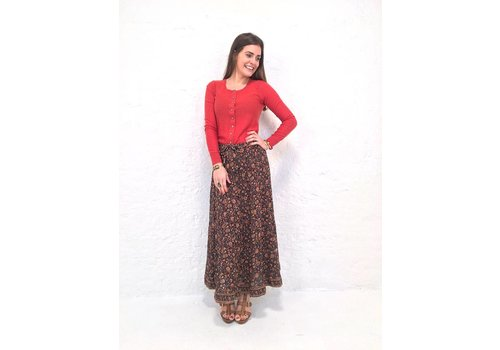 2cd8e249f4 JABA Sara Maxi Skirt in Indian Orange
