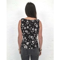 JABA Leila Top in Embroidered Print