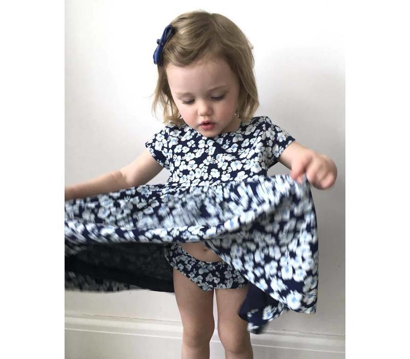Jaba KIDS Thea Dress in Blue Pansy