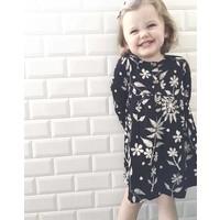 Jaba Kids Tabitha Dress in Embroidered Print