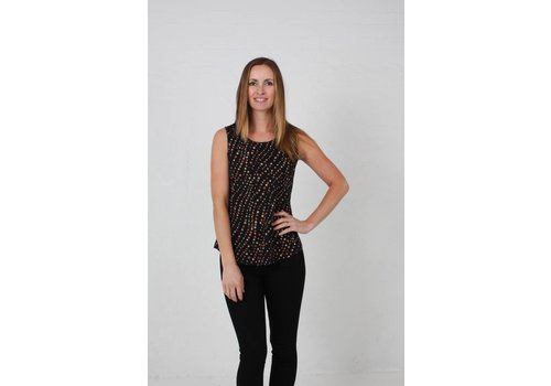 JABA JABA Zoe Top in Spot Print