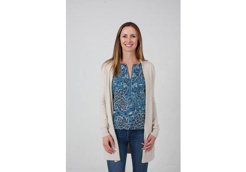 JABA Jaba Cotton/Cashmere Cardigan - Natural