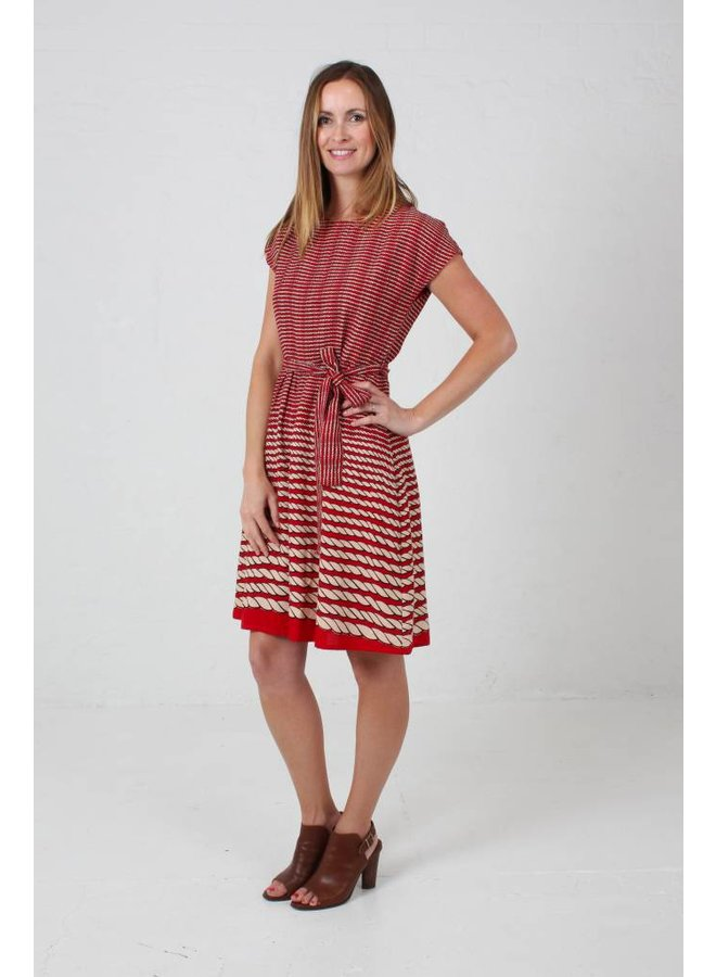 JABA Rope Dress in Red