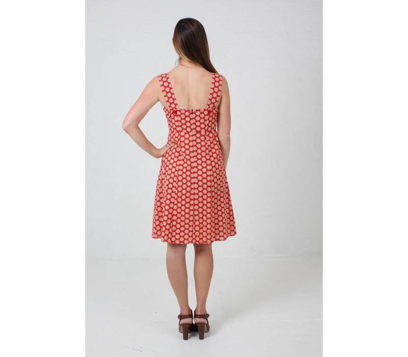 Jaba Sun Dress in Cog Red