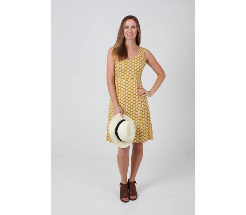 JABA Sun Dress in Cog Mustard