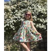 Jaba Kids Amelie Dress in Parrot Print