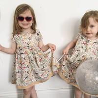 Jaba Kids Thea Dress in Jungle Print
