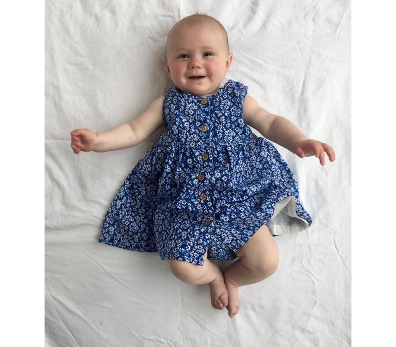 Jaba Kids Isabella Dress in Ditsy Blue