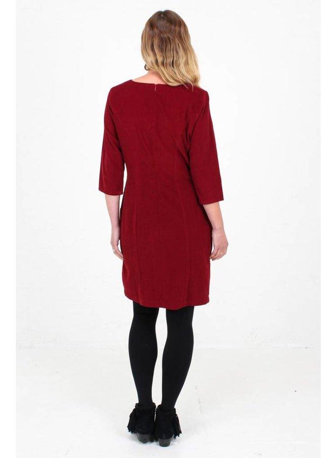Jaba  Sadie Dress in Red PinCord