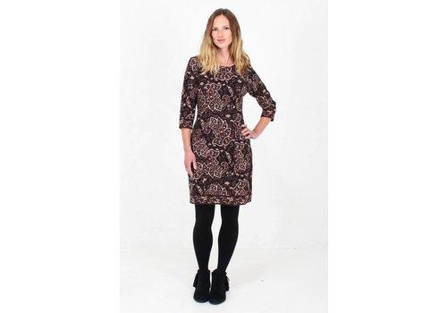 JABA JABA Sadie Dress in Black Paisley