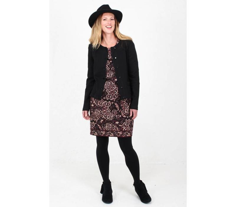 JABA Sadie Dress in Black Paisley