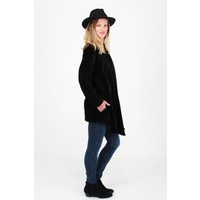Jaba Black Velvet Loose Jacket