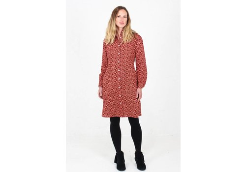 JABA Jaba Leonie Shirt Dress in Winter Red