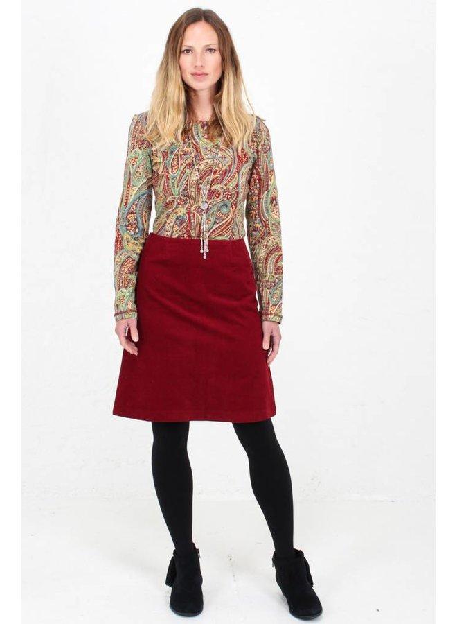 Jaba Lora Skirt in Red Cord