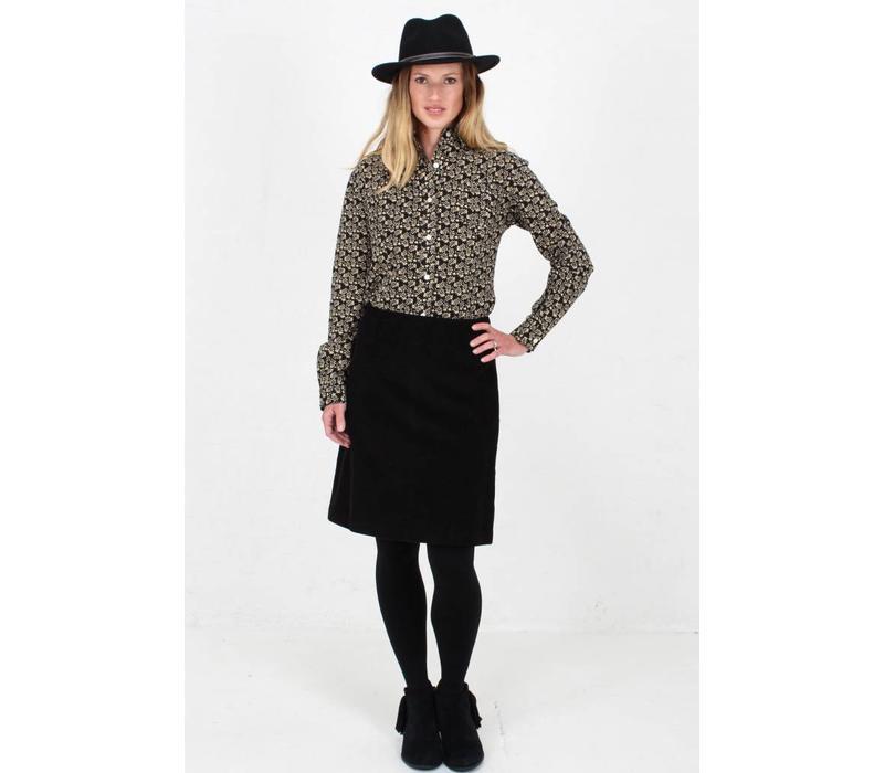 Jaba Lora Skirt in Black Cord