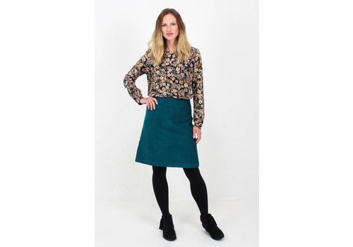 JABA Jaba Lora Skirt in Teal Cord