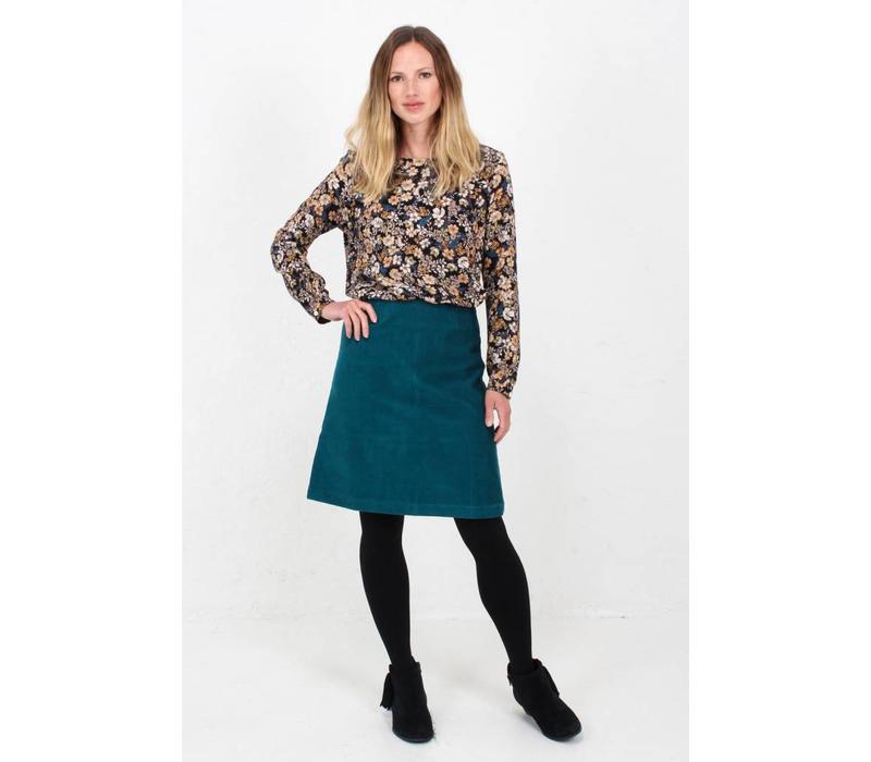 6778cf2fbb Jaba Lora Skirt in Teal Cord - JABA YARD
