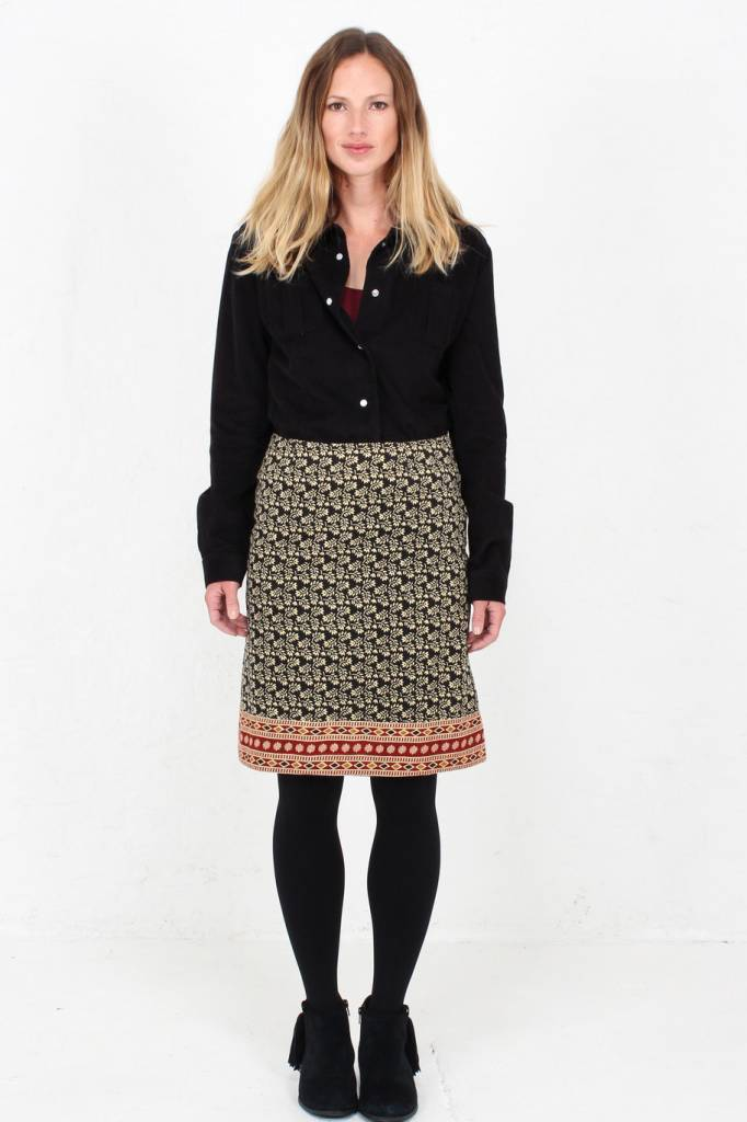 04641dee92 JABA Lora Skirt in Winter Black · JABA Lora Skirt in Winter Black