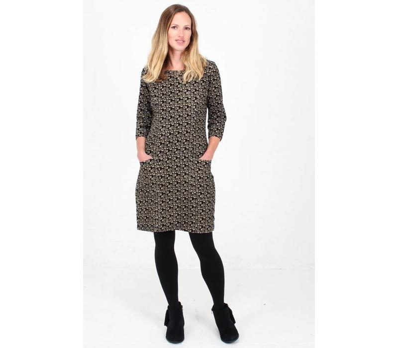 JABA Sadie Dress in Winter Black