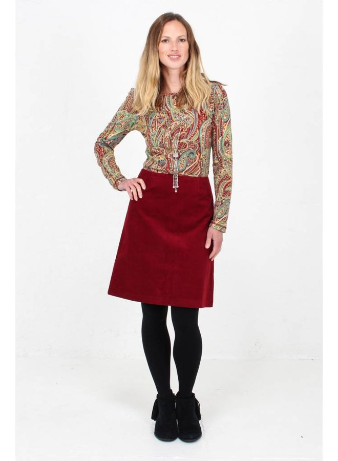 JABA Amy Top in Red Paisley