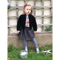 Jaba Kids Olivia Jacket - Black Quilted Velvet