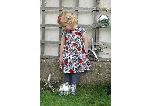 JABA Jaba Kids Thea Dress in Wild Meadow