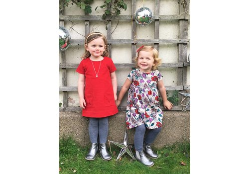 JABA Jaba Kids Evie Dress - PinCord Red