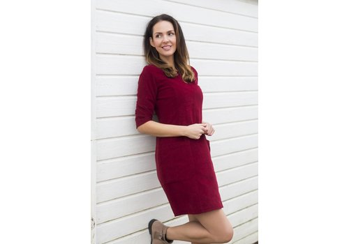 JABA Jaba Sadie Dress in Red PinCord