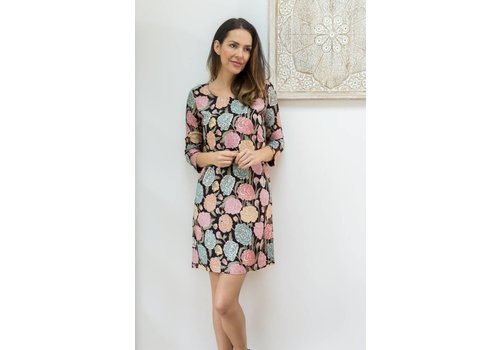 JABA Jaba Georgina Dress - Hydrangea Black