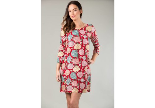 JABA JABA Georgina Dress - Hydrangea Red