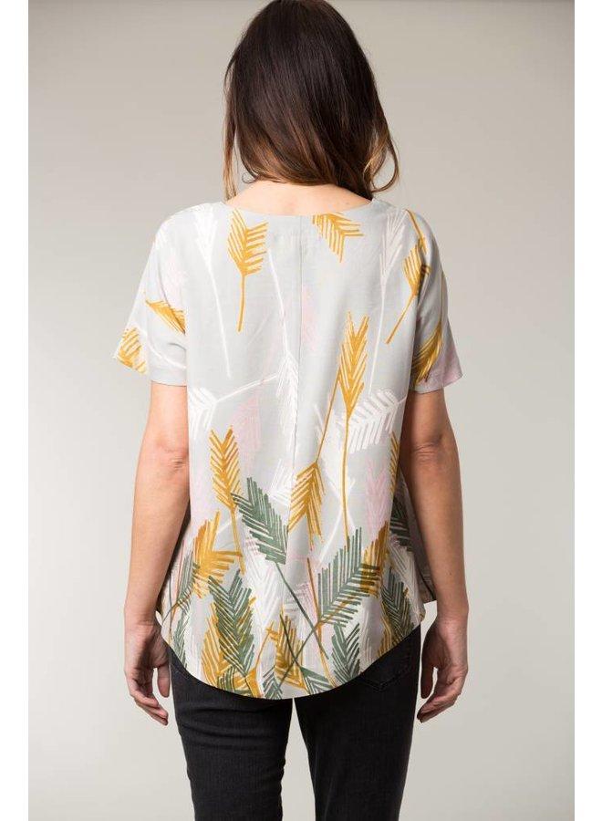 Jaba Edie T-Shirt in Palm Grey