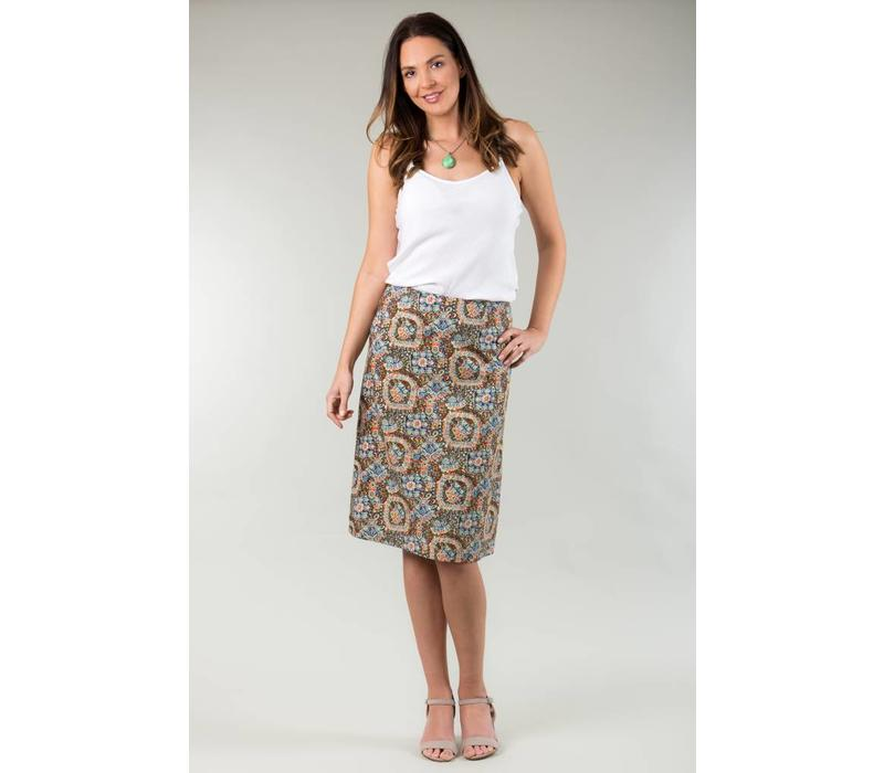 Jaba Lauren Skirt in Aztec