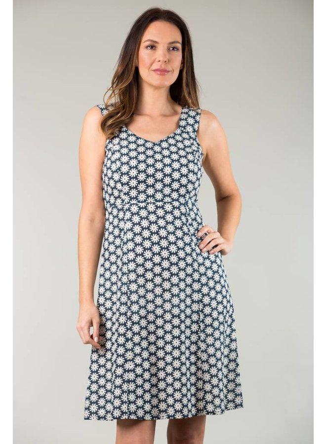 JABA Sun Dress in Cog Blue