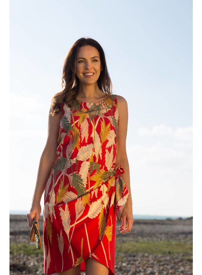 JABA Sarong Dressin Palm Red