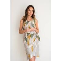 JABA Sarong Dress in Palm Grey
